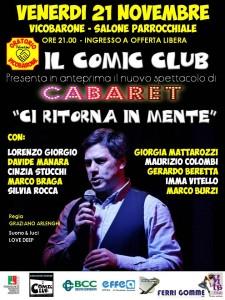 Volantino Cabaret novembre 2014